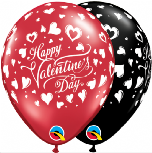Romantic Latex Balloons | Valentines Classic Hearts 25pcs | Free Delivery